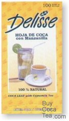 Delisse Coca Tea with Chamomile (100 Tea Bags)