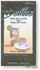 Delisse Coca Tea with Cats Claw - Uña de Gato (100 Tea Bags)